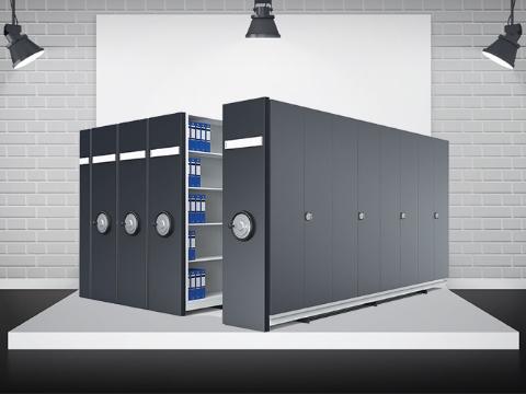 Dörtlü Kompakt Raylı Arşiv Sistemi